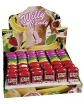 COLORFUL CANDY IN THE SHAPE OF A PENIS WITH THE FLAVOUR OF FRUITS