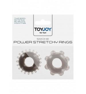 Anelli per Pene Power Stretchy Rings Smoke 2Pcs