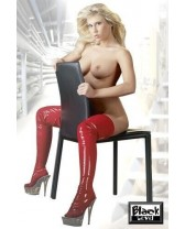 STIVALE IN LATEX BED BOOTS RED