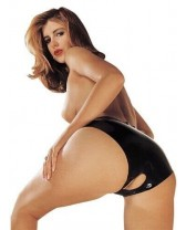 Mutandina Latex Panties Crotchless Black Misura S/L