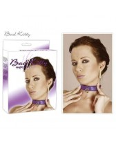 COLLAR BAD KITTY COLLAR IN LEATHER-QUILTED - PURPLE