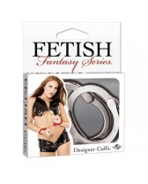 HANDCUFFS FF DESIGNER CUFFS - SILVER FETISH FANTASY