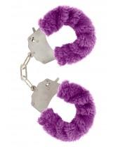 Manette in Peluche Color Viola per Giochi Erotici