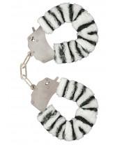 Manette in Peluche Color Zebra per Giochi Erotici
