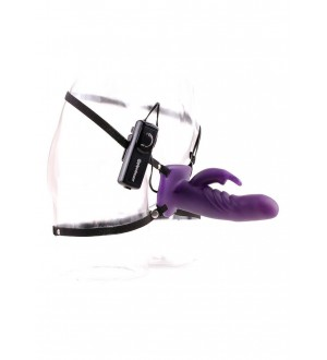 Vibratore Strap-On Wonderful Wabbit Strap On Purple