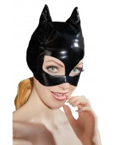 Maschera Gatto in Ecopelle Faux Leather Cat Mask