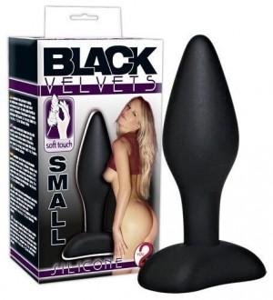 ANAL PLUG BLACK VELVET SILICONE BUTT PLUG SMALL